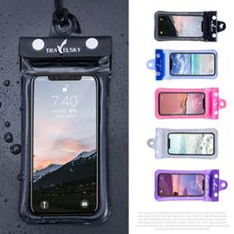 2019 ремешок для телефона из пвх Универсальный 6-дюймовый 5-дюймовый мобильный телефон водонепроницаемый чехол для плавания прозрачный ПВХ герметичный подводный сотовый телефон защищать сумки с ремешком DH1132 T03 дешево ремешок для телефона из пвх