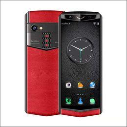 India telefone celular atacado on-line-2019 Novo caso de couro estilo de smartphones oem android 8.1 Play Store whatsapp facebook celular inteligente telefone celular atacado orginal telefone mini 32G