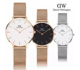 Relógio impermeável e fino on-line-Vestido de luxo assistir ultra-fino homens 40mm senhoras 32mm tendência de negócios de moda casal presente à prova d 'água caixa de relógio de quartzo venda