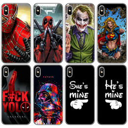 variety case Promo Codes - For Iphone Xs Max X Xr Phone Case Superwoman Multi-Color Variety For Apple 7 8 Plus Spiderman Transparent TPU Soft Cell Phone Cases
