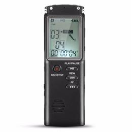 mejor grabadora de voz mp3 Rebajas 8GB Pantalla LCD recargable Sonido de audio digital Grabadora de voz Dictáfono Reproductor de MP3 Dispositivo de grabación de llamadas telefónicas