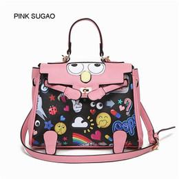 fe1667138 Rosa sugao diseñador mujeres hombro bolso de moda de lujo bolso crossbody  de dibujos animados impresos bolsos big eye bolso de cuero famosa marca