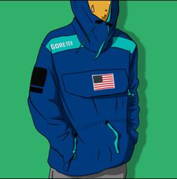 Bandiere di alta qualità online-17SS Expedition Pullover Jacket Uomo Donna Cappotti Fashion Flag Capispalla Impermeabile Giacca di alta qualità High Street Jacket S ~ XL HFWPJK128