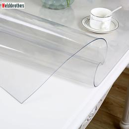 Barcos verdes on-line-Conjunto de toalha de mesa de óleo de cozinha moderna Soft Glass Tabletop Pvc transparente água barco 1.0 mm de espessura. 52 tamanhos são opcionais2018 T8190620