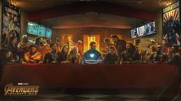 2019 moderne klassische gitarre Avengers Infinity War Das letzte Abendmahl Filmkunst Silk Print Poster 24x36inch (60x90cm) 018