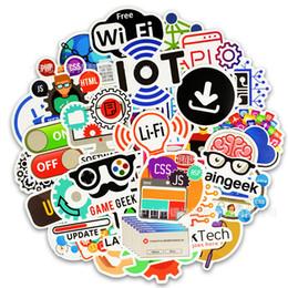 логотип наклейка для телефона Скидка 50 шт. прохладный Программирование наклейки логотип интернет программное обеспечение стикер смешной подарок для вундеркиндов хакеров разработчиков DIY ноутбук телефон