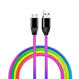 2019 smartphone gebühren Typ c Micro-USB-Kabel 1 m 3 ft langlebig Schnellladung Rainbow Alloy USB-Kabel für Samsung S8 S9 S10 Hinweis 8 9 HTC LG Android Smartphone günstig smartphone gebühren
