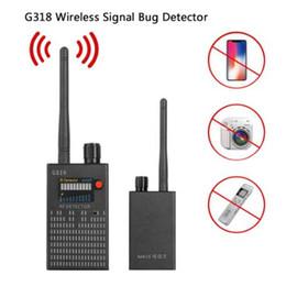 G318 el dedektörü Kablosuz RF sinyal dedektörü CDMA sinyal Dedektörü yüksek hassasiyet algılama Kamera lens / GPS bulucu Cihazı Bulucu nereden yuvarlak soket tedarikçiler