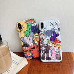 caso della lana di iphone Sconti KAWS Sesame Street Case for iPhone 11 PRO MAX 6 6s 6plus 7 8 casi più colore TPU della caramella in silicone per iPhone Funda X Xs Max Xr Coque