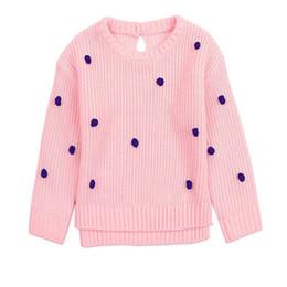 2020 pulôveres rapazes Bebés Meninas Sweater Outono Inverno Pompom infantil Criança Bebê Cardigan para meninas dos meninos blusas de malha Roupa Pullovers desconto pulôveres rapazes