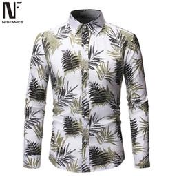2020 blusas jovenes Loose Fit masculino floral hombre de la camisa de manga larga Tops Otoño Nueva comerciales camisas de los hombres Sociales Young Boys Streetwear blusa ocasional 2019 rebajas blusas jovenes