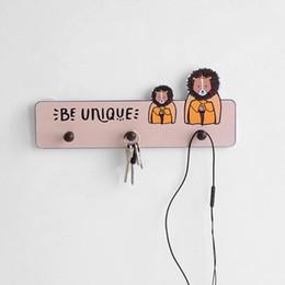 Modelli di cappello animale libero online-Hook Umbrella modello muro Punch animale libero della decorazione della casa Hotel Restaurant Hat senza saldatura Hanger bambini in camera Nordic Bagno