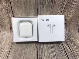 Venta de auriculares bluetooth lg online-I10 TWS Bluetooth inalámbrico 5.0 Auriculares Auriculares Estéreo Deportes Auriculares Auriculares con caja de carga de micrófono venta caliente