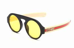 Avvolgere occhiali da sole online-Occhiali da sole di alta qualità per uomo Donna Wrap di metallo Occhiali da sole Tondi di marca Occhiali da sole Specchio UV400