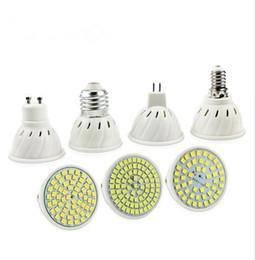 piccoli pulsanti di commutazione Sconti E27 E14 MR16 GU10 Lampada LED lampadina 220V 240V Bombillas lampada LED del riflettore 48 60 80 LED 2835SMD Lampara Spot Light