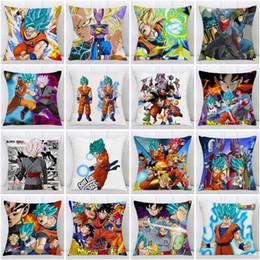 cojines de pavo real Rebajas Moda Anime funda de almohada Dragon Ball Z Goku Super Saiyan funda de almohada Poliéster Throw fundas de almohada Sofá del coche cubierta del amortiguador