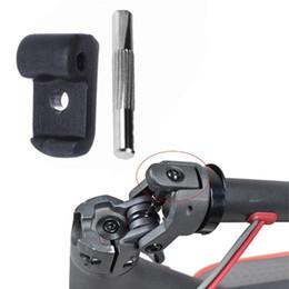 Dobradiças on-line-Gancho dobrável + pin Scooter Eletrônico Reforçado Bloqueio de Substituição do Volante Da Dobradiça Trinco Da Substituição Para Xiaomi M365 Acessórios