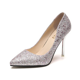 6c5a82db606c Women Pumps Stiletto Sequins Bling Bling High Heels 2019 Silver Shoes Woman  Formal Sexy High Heels for Women Spring Fashion Elegant