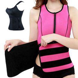 8fca6a8b70 wholesale Sauna Abdominal Bodybuilding Belt Sports Corset Tank Top Vest  Women Slim Waist Trimmer Weight Trainer Body Shaper