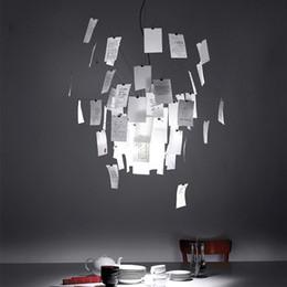 pingentes de luz de papel Desconto Modern Paper Zettel Lâmpada Suspensão Luz Nova para Quarto Sala de Jantar Sala de estar DIY Branco Lâmpada Pendurada Decoração Candelabro Lâmpadas