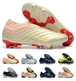 1ef5cc78e 2019 New Mens Copa 19+ 19.1 FG AG 19+x 19 Hot Slip-On Champagne Solar Red Soccer  Football Shoes Boots Scarpe Calcio Cheap Cleats Size 39-45