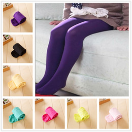 d595cd97c44 Solid Girls Pantyhose Pure Children Tights Baby Girl Stocking Flexible Kid  Panties Girl Legging Toddler Ballet Dancing Clothes Trouser