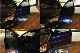 Atacado-sem fio porta do carro luz logo projetor bem-vindo led lâmpada fantasma sombra luz para Audi Benz Nissan Mitsubishi Mazda VW Opel supplier car logo light for audi de Fornecedores de luz do logotipo do carro para audi