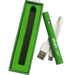 Intelligente stifte online-380mAh Smart Cart-Batterie 510 Gewindespannung einstellbar Vape-Batterie Smart Cart-Vorheizbatterie für Smart Vape-Patronen-Stift