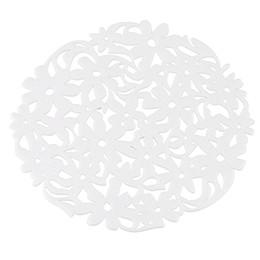 manteles de fieltro Rebajas 4 piezas redondas cortadas con láser Flor de fieltro Placemats Cocina Cena Mesa Estera Pad 30cm