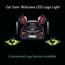 mandos a distancia volvo Rebajas Gzhengtong 2x 3D Hulk Logo Car Door Ghost Shadow Spotlight Proyector láser Puddle Luz LED