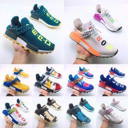 2019 sport vuoto 2019 razza umana Hu trail x pharrell williams scarpe da uomo firmate Solar Pack Afro Holi Blank Canvas scarpe da ginnastica da uomo sportive donna sneakers sport vuoto economici