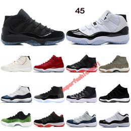 Canada 11 chaussures de basket-ball Concord 45 teinte platine casquette et robe Space Jam gagner comme 96 designer chaussures hommes femmes sport baskets taille 36-47 Offre