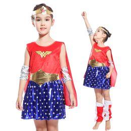 2019 fantasias supergirl Crianças Super Meninas Supergirl Traje para o Dia Das Bruxas Carnaval Party CosplayBirthday Ano Novo Vestido Trajes fantasias supergirl barato