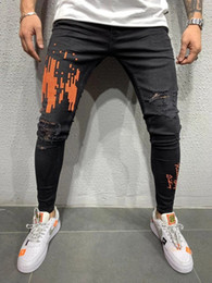 REPPUNK 2019 New Streetwear Elastic Men Ripped Skinny Jeans Slim Fit Denim Pants Elastic Male Harem Fashion Style Pantalones desde fabricantes