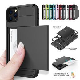 Armadura híbrida a prueba de golpes con funda de bolsillo para tarjeta de bolsillo para iPhone 11 pro Max iPhone 8 XS Fundas para Sumsung Note 9 S9 Plus desde fabricantes