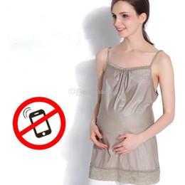 anti-strahlung kleidung schwangere frauen Rabatt Umstandsmode Silberfaser Mutterschaft Strahlenschutzanzug Strahlung Camisole Schwangere Frau Strahlenschutzkleidung C5890