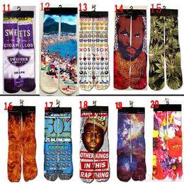 Meias 3d meias hip hop Esportes meias de skate Unisex Sexo para crianças grandes mulheres homem adulto meias 500design 2018 novo estilo de