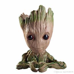uniformi di combattimento militare nero Sconti Baby Groot Flowerpot Fioriera Fioriera Action Figures Guardiani della Galassia Toy Tree Man Cute Model Toy Pen Pot