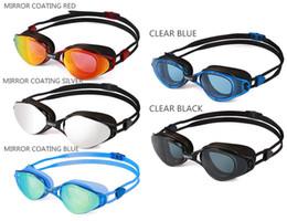 occhiali blu rossi adulti Sconti New Professional Anti-Fog Protezione UV Occhiali da nuoto regolabili Uomo Donna Occhiali in silicone impermeabile Occhiali per adulti
