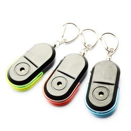 lampeggiante tasto di ricerca leggera Sconti Mini fischietto anti-smarrimento Sound Key Finder Lampeggiante LED Luce Beep Telecomando per bambini Portachiavi Localizzatore di portafogli Promemoria allarme per bambini GPS