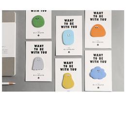 2019 calendario del libro de recuerdos 36 unids Lindo guisante caramelo notas pegajosas adhesivo marcador marcador nota Papelería Oficina Útiles escolares Material escolar