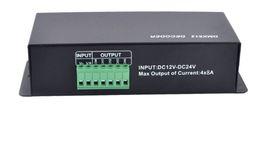 2019 dmx 512 decoder rgb 4CH DC12-24V RGBW DMX 512 decoder led controller, decoder LED RGB DMX512 4 canali * 8A, spedizione gratuita LLFA dmx 512 decoder rgb economici