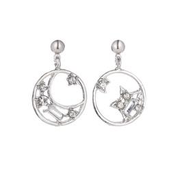 Deutschland Heiße Verkaufs-Sterne-Band-Ohrringe einfache Art und Weise Silber überzogene Geometric Ohrringe für Frauen arbeiten Get Married Schmuck Geschenk cheap gift marry Versorgung