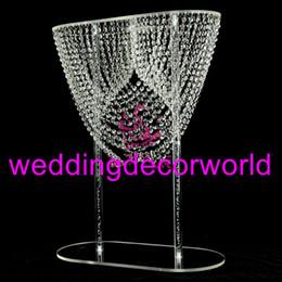 Lustres de mesa on-line-Novo estilo de acrílico Frisado Table Top Candelabro Centerpieces Decorações de mesa de Casamento decor817