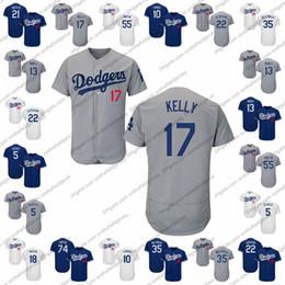 martin beisebol Desconto Jersey de beisebol de Los Angeles Dodgers 17 Joe Kelly 63 Yuri Garcia 13 Max Muncy 27 Alex Verdugo 55 Martin Russell 25 David Freese S-4XL