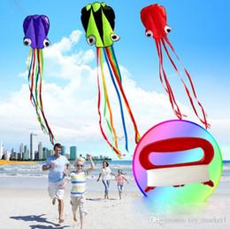 2019 cerf-volant facile seule ligne rouge Stunt Parafoil Octopus Power Sport Kite extérieur jouet 3D