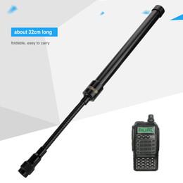 2019 radios tácticas TNC Head Wirless Antena táctica de cuello de cisne plegable Tactica portátil Radio Antena de dos vías radios tácticas baratos
