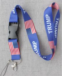 handys geschenke Rabatt TRUMP Chest Card Strap USA abnehmbare Flagge der Vereinigten Staaten Schlüsselanhänger String Badge Anhänger Party Geschenk Handy Lanyard Hot B71604