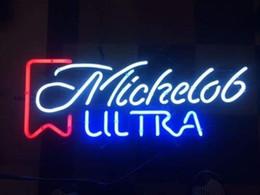 bierzeichen lichter für bars Rabatt Ultra-Michelob Echtglas-Neonlicht-Zeichen Startseite Beer Bar Pub Aufenthaltsraum Spielzimmer Fenster Garagenwandschild
