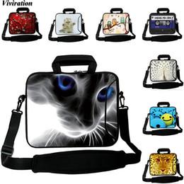 bolso de la tableta de pulgadas Rebajas Funda para portátil Viviration 14 12 13 10 15 17 pulgadas Bolso de hombro de gato Funda Tablet PC Messenger Bag 10.1 9.7 10.5 Pulgadas Cremallera